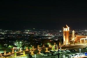 フルーツパーク富士屋ホテルからの新日本三台夜景