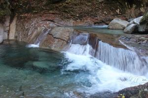 西沢渓谷途中の滝2