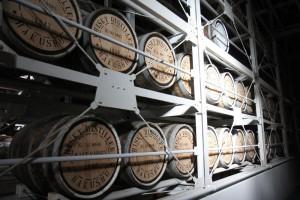 白州サントリー工場のウイスキー樽管理状態