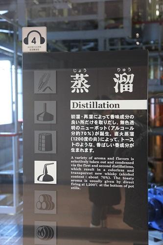 白州サントリー工場ウイスキー醸造工程蒸留看板