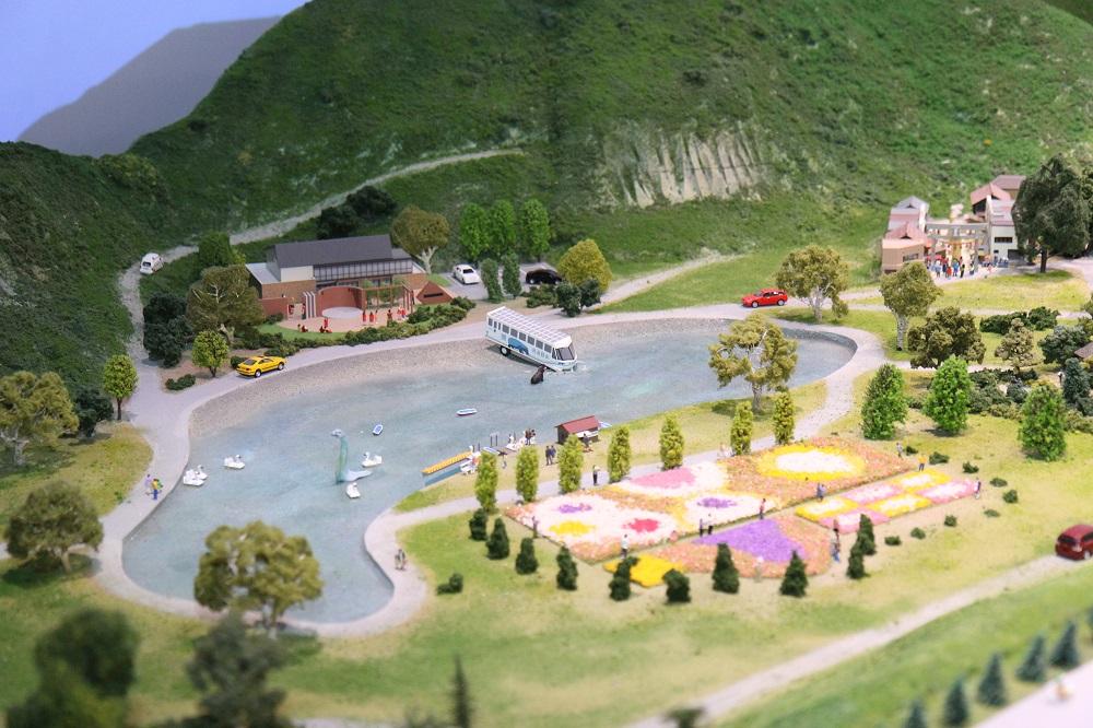 リニア見学センターミニチュアの山中湖