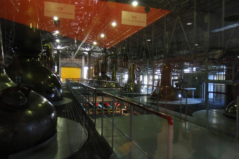 白州サントリー工場ウイスキー醸造工程蒸留