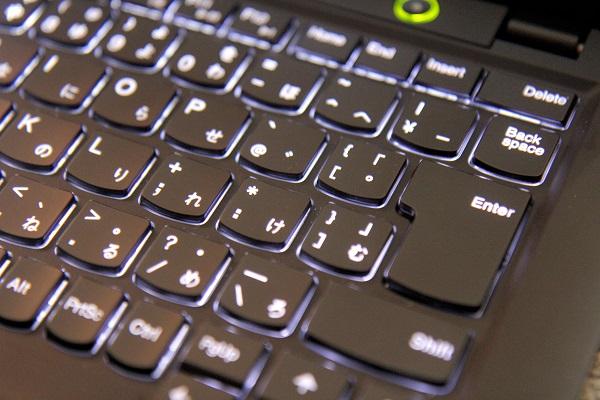 ThinkPad X1キーバックライト点灯