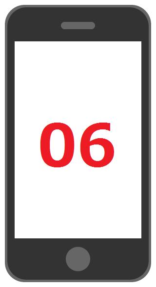 スマホで06番号発信をする方法